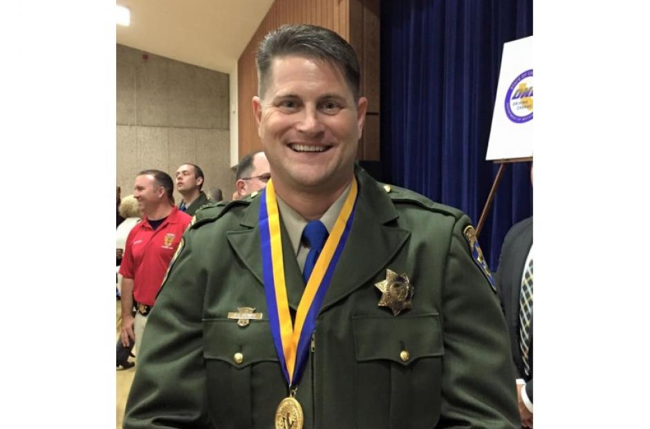 Image of CHP Officer Awarded Medal of Valor For Saving Life of Dangling Man